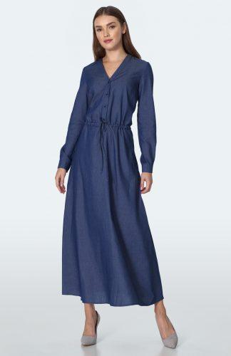 Sukienka jeansowa długa