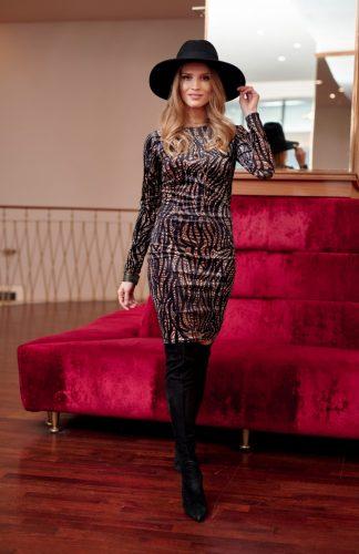 Sukienka ołówkowa elegancka mini