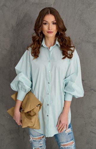 Bluzka koszulowa elegancka z szerokimi rękawami