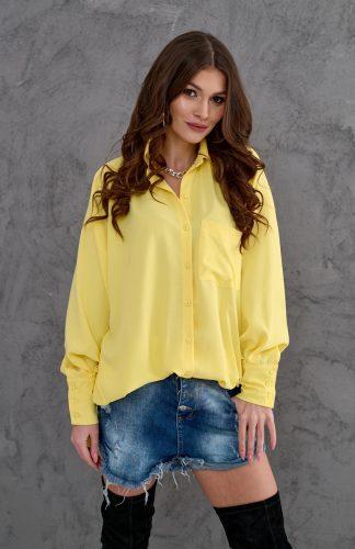Koszula elegancka długa o luźnym kroju