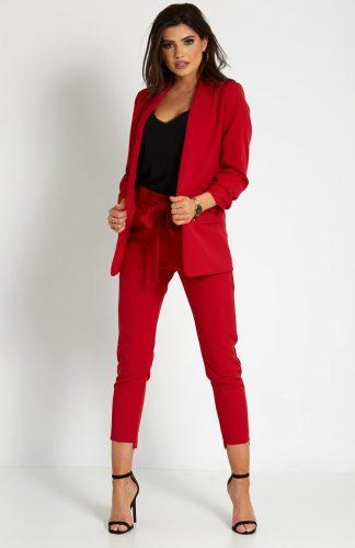 Dopasowany garnitur damski marynarka i spodnie