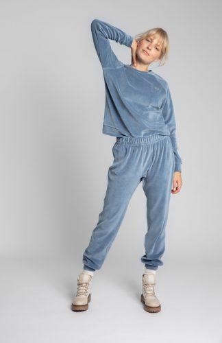 Spodnie welurowe joggery