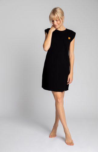 Sukienka bawełniana mini bez rękawów