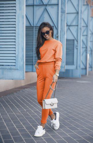 Komplet dresowy pomarańcz z krótką bluzą