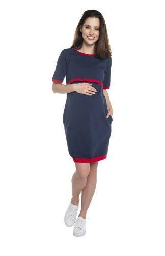 Sukienka ciążowa i do karmienia sportowa bawełniana