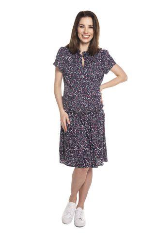 Sukienka ciążowa i do karmienia piersią z falbanką