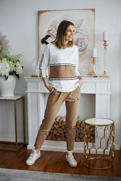 Komplet dresowy bawełniany bluza i spodnie