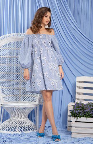 Sukienka hiszpanka bawełniana z haftem