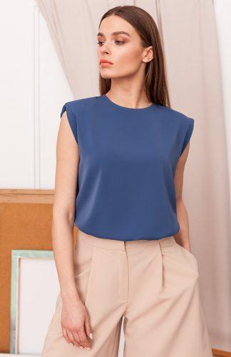 Bluzka elegancka bez rękawów