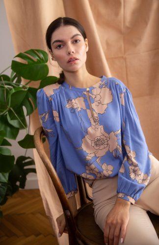 Bluzka damska elegancka z wiskozy