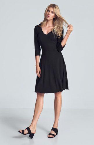 Sukienka koktajlowa wizytowa czarna