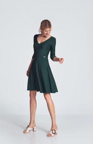 Sukienka koktajlowa wizytowa zielona