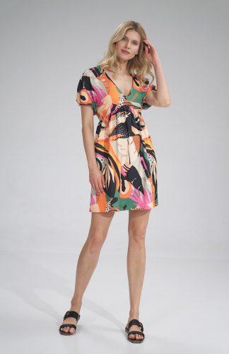 Sukienka odcinana pod biustem do kolan