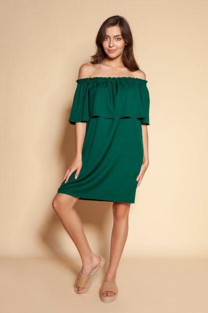 Sukienka hiszpanka mini zielona