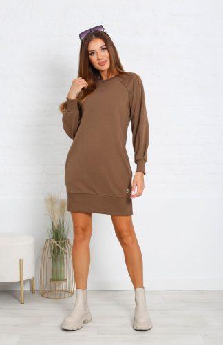 Sukienka dresowa bawełniana do kolan