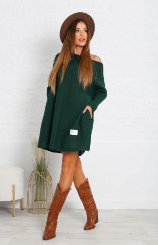 Sukienka swetrowa ciepła oversize